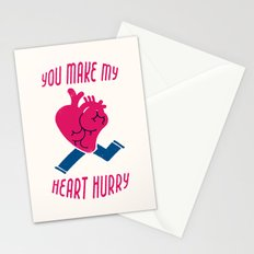 You make my heart hurry Stationery Cards