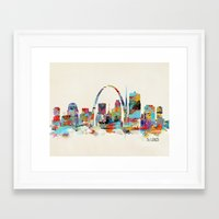 Saint Louis Missouri Sky… Framed Art Print