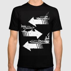 Back to the Future Minimalist Poster SMALL Black Mens Fitted Tee