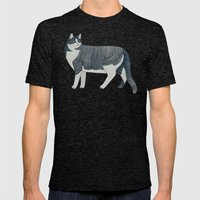 Beaming Cat Mens Fitted Tee Tri-Black SMALL