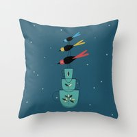 Birds Equilibrists Throw Pillow