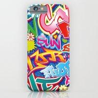 graffiti iPhone & iPod Cases featuring Graffiti by Helene Michau