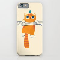 Fat cat, little bird iPhone 6 Slim Case