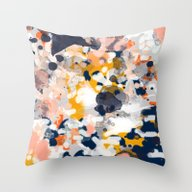 Stella - Abstract Painti… Throw Pillow