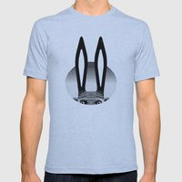 Peekaboo Rabbit Mens Fitted Tee Athletic Blue SMALL