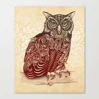 Most Ornate Owl Canvas Print