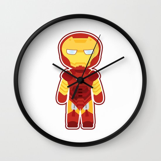Chibi Iron Man Wall Clock