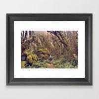 Glitch Wanderer Framed Art Print