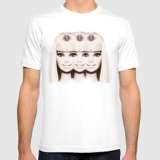 Barbie Three Mens Fitted Tee White SMALL