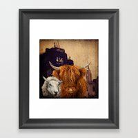 Sheep Cow 123 Framed Art Print