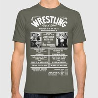 #11-B Memphis Wrestling … Mens Fitted Tee Lieutenant SMALL