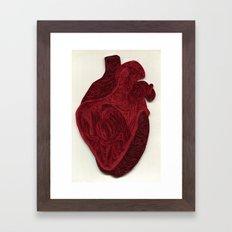 paper filigree human heart Framed Art Print