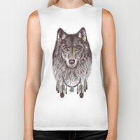 Wind Catcher Wolf Biker Tank
