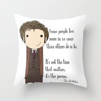 Doctor Who: It's Not The… Throw Pillow