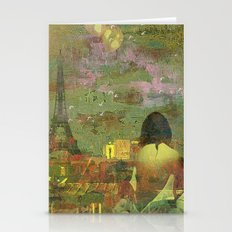 On The Roofs Of Paris Stationery Cards