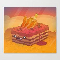 Golden Cake Buddy  Canvas Print