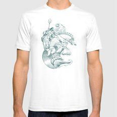 Poseidon SMALL Mens Fitted Tee White