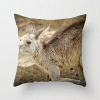 Razzie Kangaroo Throw Pillow