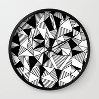 Ab Lines With Black Bloc… Wall Clock
