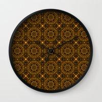 Abstract Moroccan Tiles  Wall Clock