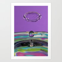 Water Drop Collision Art Print