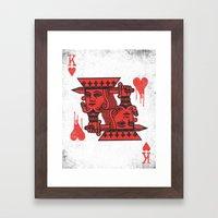 LOVE IS AN OPEN WOUND Framed Art Print