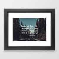 Road Trip Emerson Framed Art Print