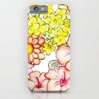 Yellow Hibiscus Cat in Silhouette iPhone 6 Slim Case