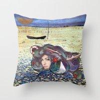 The Mermaid Throw Pillow