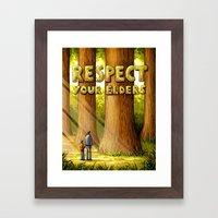 Respect Your Elders Framed Art Print