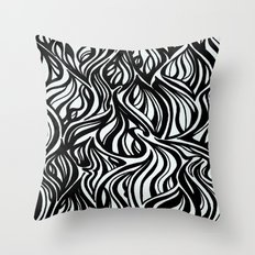Back to Black 1  Throw Pillow