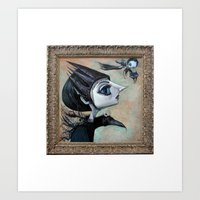 raven witch Art Print