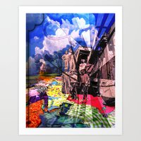 Fabric Road Art Print