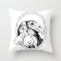 Mr. Vulture Throw Pillow