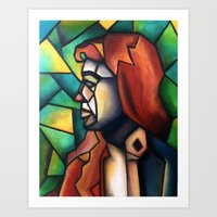 Stained Glass  Art Print