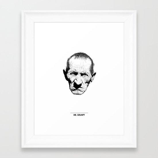 Mr. Grumpy Framed Art Print