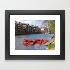 York pleasure boats Framed Art Print