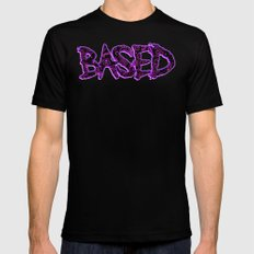 BASED Black Mens Fitted Tee SMALL
