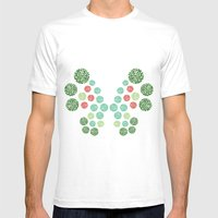 Vivillon Garden Form Mens Fitted Tee White SMALL