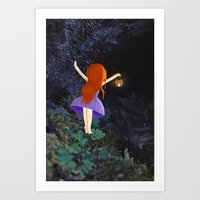what's in the dark? Art Print