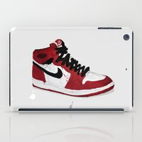 Nike Air Force 1 - Retro - Red & Black & White iPad Case