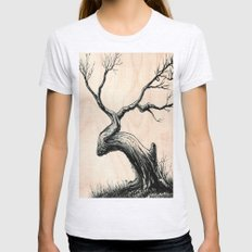 Tree in Bloom  Womens Fitted Tee Ash Grey SMALL