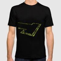 dead end Mens Fitted Tee Black SMALL