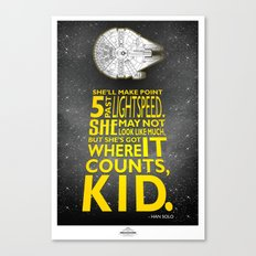 Star Wars - What a piece of Junk! Canvas Print