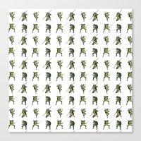 Ninja Turtle Pattern Canvas Print
