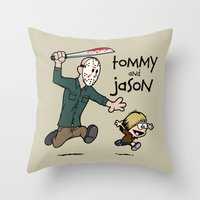 Tommy and Jason Throw Pillow