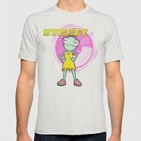 Lil' Steezy Mens Fitted Tee Silver SMALL