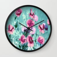Playful Poppies dreams  Wall Clock