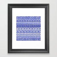 Cobalt Blue Geometric St… Framed Art Print