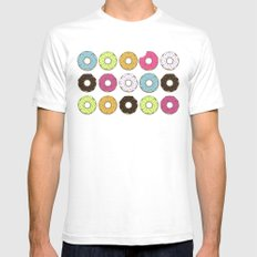 Donuts SMALL White Mens Fitted Tee